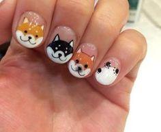 pegatinas de perros para uñas Más