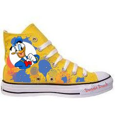 Donald Duck Converse, created by who-i-am on Polyvore