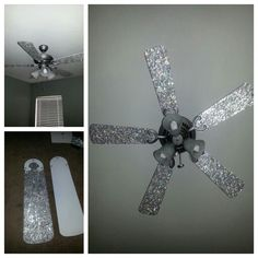I bling out my daughter's ceiling fan....... I'm so doing this!!!!!