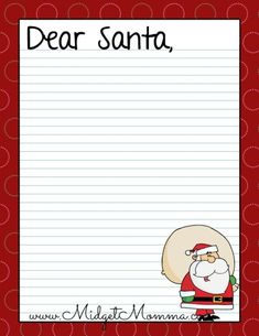 Dear Santa Letter  Free Printable For Kids And Grandkids  Santa