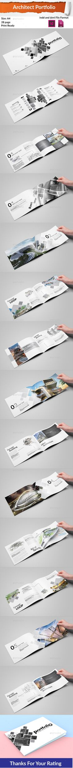 Buy Architecture Portfolio by hthasan on GraphicRiver. Artchitect portfolio Landscape 28 page Indd and Idml File format Print ready file Made in Adboe CC (INDD) Adobe ID. Architecture Portfolio Pdf, Portfolio Architect, Portfolio Design, Brochure Design, Brochure Template, Stationery Design, Mise En Page Portfolio, Indesign Portfolio, Fashion Design Template
