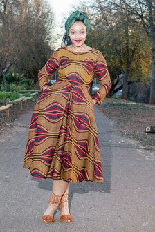 Brown African print dressAnkara African by EssieAfricanPrint African Maxi Dresses, African Fashion Ankara, African Attire, African Fabric, African Prints, African Design, Ankara Styles, African Women, Afro