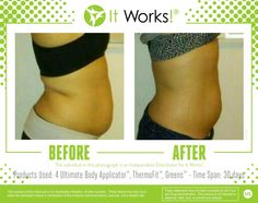 "One month and #BOOM ! You have to have a ""Before"" to get the ""After"". Have you started your #ItWorksAdventure yet ? www.wrapswithmarian.com"
