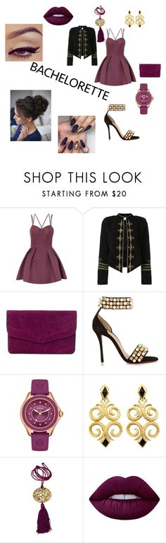 """Untitled #68"" by anonymous-ugly ❤ liked on Polyvore featuring Chi Chi, Yves Saint Laurent, Phase Eight, Christian Louboutin, Michele and Lime Crime"