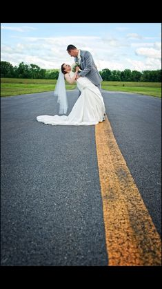 Airport wedding, taxiway dip!!