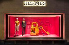 "HERMÈS,Bond Street,London, UK, ""Curiosity Cabinet Part 2"", design by Millington Associates, pinned by Ton van der Veer"