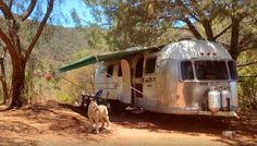 This 1957 Airstream trailer has three beds, including a comfy double.