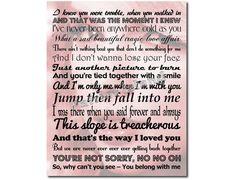 Art Print Song Lyrics by PatriotIslandDesigns on Etsy, $14.00