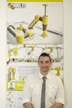 Piece titled 'Nail It' by Martin Jordan, Huddersfield University News Design, Awards, Designers, University, Nail, Nails, Colleges, Polish