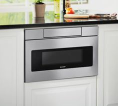 Abt has special shipping available on the Sharp Stainless Steel Microwave Drawer Oven. Shop now at Abt and receive free technical support! Sharp Microwave Drawer, Microwave Oven, Built In Microwave Cabinet, Hidden Microwave, Oven Cabinet, Small Appliances, Kitchen Appliances, Ovens In Kitchens, Kitchen Gadgets