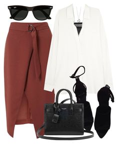 """""""Untitled #2603"""" by briarachele on Polyvore featuring Miss Selfridge, Vince, Ray-Ban, Alexander Wang, Yves Saint Laurent and Elsa Peretti"""