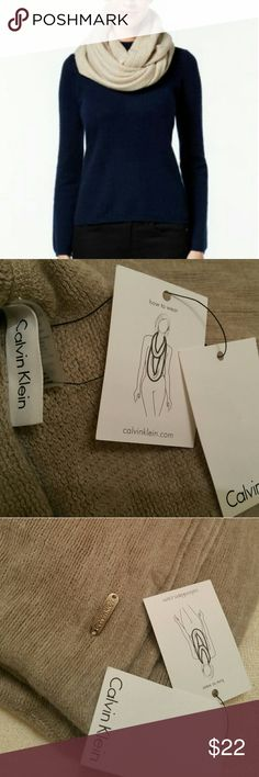 Calvin Klein Infinity soft neckwear. Calvin Klein Infinity soft neckwear.  This is really soft to touch. The last picture is to show wear style. Color is grayish tan. Calvin Klein Collection Accessories Scarves & Wraps