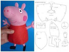 игрушка свинка пеппа ручной работы выкройка - Пошук Google