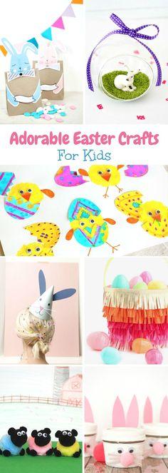 20 Adorable Easter Crafts for Kids #eastercrafts