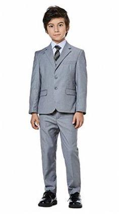 c4aff73b27 Boys Classic Fit Formal Dress Suits Set 5-Piece by WQI.HAN