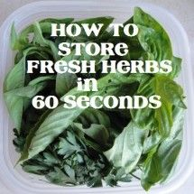 How to Store Fresh Herbs {the lazy way}