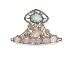 """RENÉ LALIQUE Art Nouveau Opal, Glass and Diamonds ROSE Plaque circa 1901 """"Sometimes thorny, we must face ourselves to clear they way. Bijoux Art Nouveau, Art Nouveau Jewelry, Jewelry Art, Vintage Jewelry, Fine Jewelry, Jewelry Design, Feather Jewelry, Opal Jewelry, Designer Jewelry"""