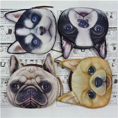 New Cute dog Cat Face Zipper Case Coin Purse female Wallet / child purse Makeup Buggy Bag Pouch kids wallet girl #clothing,#shoes,#jewelry,#women,#men,#hats,#watches,#belts,#fashion,#style