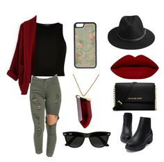 """""""Untitled #4"""" by bigcitidreams ❤ liked on Polyvore featuring River Island, BeckSöndergaard, MICHAEL Michael Kors, CellPowerCases, Kenneth Jay Lane and Ray-Ban"""
