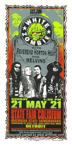 1995 White Zombie & Melvins Concert Handbill Arminski (MA-036)
