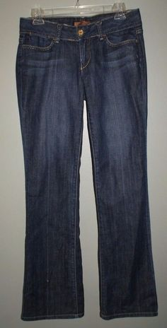 Arden B boot cut jeans heavy stitch distressed edges womens 28 tag 30 actual…