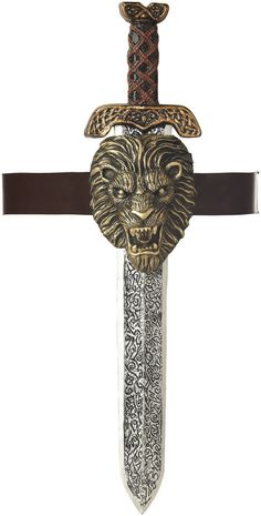 Roman Sword With Gold Lion Sheath Adult
