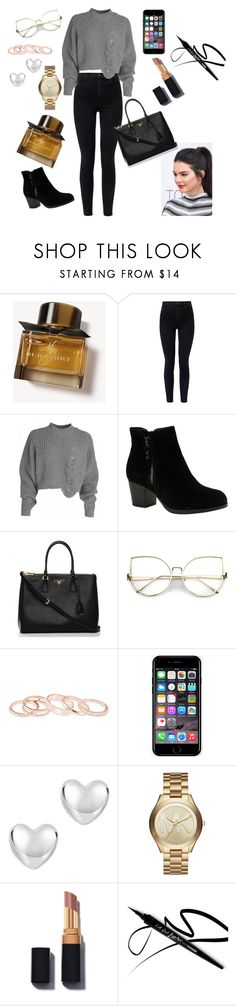 """Untitled #371"" by esii-li ❤ liked on Polyvore featuring Burberry, J Brand, Skechers, Prada, Kendra Scott, Off-White and Michael Kors"