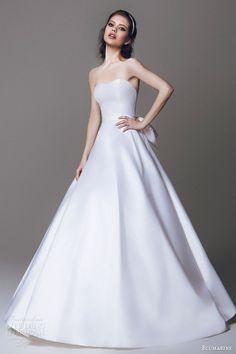 blumarine 2015 simple stunning strapless wedding dress a line ball gown silhouette