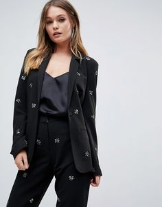 ASOS Blazer with Beading - Black