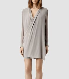 Womens Lucas Shirt Dress (Taupe/Taupe) - product_image_alt_text_1