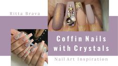 Coffin Nails with Crystals - How to Apply Crystals to Coffin Nails diamond nails, How to Apply Crystals to Coffin Nails, Applying Over 200 Swarovski Crystals to Nails, Long acrylic nails in swarovski, Bling Bling Glamour Nail Art Designs \u0026 Ideas, diamond nail art, Rhinstone nail art, Rhinstone nail design, crystal nails, crystal nail art, crystal nail design, crystal nail art ideas, swarovski nails, swarovski nail art design, nails with crystals, nails with diamond, How to Apply…