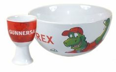 Arsenal F.C. Bowl And Egg Cup Set by Mad4Football. $24.60. Officially Licensed Product. Bowls / Egg Cups. Arsenal. Arsenal F.C. Bowl And Egg Cup Set. Arsenal F.C. Ceramic Breakfast Bowl And Egg Cup Set Official Licensed Product