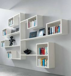 Wall decoration ideas with open Wall shelves