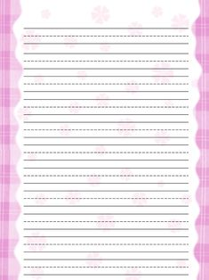 Kids Printables | Free Printable Stationery For Kids, Free Lined Kids Writing  Paper