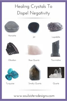 dispel-negativity The types: For protection: Crystal Grid: Crystals for healing: Cleaning your crystals: Extra crystal goodness: ✌ Crystal Healing Stones, Crystal Magic, Healing Crystal Jewelry, Crystal Grid, Grounding Crystals, Quartz Crystal, Crystals And Gemstones, Stones And Crystals, Gem Stones