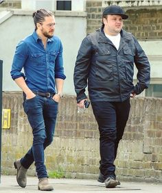 Kit Harington and Jon Bradley in London