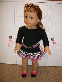 American Girl Doll ClothesHarajuka Skirt & by WittyWhimsicals, $20.00