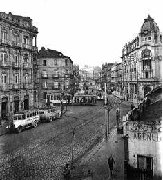 Rúa Policarpo Sanz e cruce de Colón. 1926