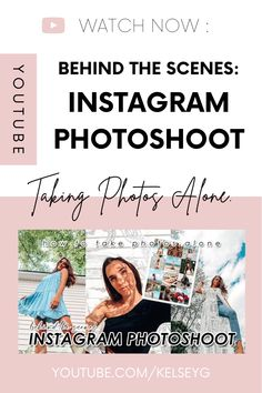 Watch 'Behind the Scenes of an Instagram Content Photoshoot,' see what I take to a photoshoot and how I take pictures alone for instagram. Social Channel, Instagram Tips, Virtual Assistant, Alone, Take My, Behind The Scenes, Social Media, Photoshoot, Content