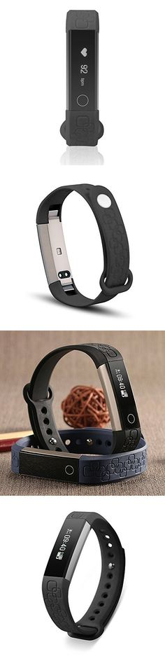 Keoker Micro-K Smart Wristband Fitness Tracker Bluetooth Heart Rate & Sleep Monitor Smart Bracelet Pedometer Sport Smartband for IOS Android (Black)