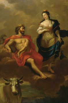 Quinkhard, Jan Maurits - Юпитер и Юнона, 1723, 265 cm x 178,5 cm, Холст, масло Музей Франса Халса в Харлеме