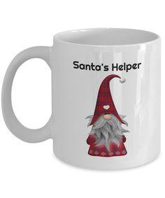Santa's Helper Mug Gift Mugs, Gifts In A Mug, Novelty Gifts, Santa, Xmas, Prints, Design, Christmas, Navidad
