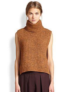 3.1 Phillip Lim Alpaca Sleeveless Turtleneck Sweater