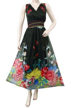 Ibaexports Black Chiffon Beach Dress Floral Pattern « Dress Adds Everyday