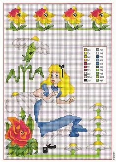 Alice in wonderland cross stitch