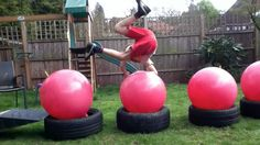 obstacle course kids ideas | Keshi Heads :: Wipeout :: Homemade Course Obstacle Ideas | Runboard