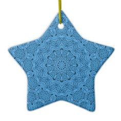 Decorative Blue Vintage Colorful Ornaments - home gifts ideas decor special unique custom individual customized individualized