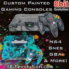 Custom painted retrogaming systems galore! Visit 8bitevolution.com to see our stuff, plus get 10% off with code JohnMcCool10 at checkout. #retrogaming #retrovideogames #gaming #gamer #nerdstuff #nintendo #Sega #arcade #custom #GBA #gameboy #offer #special #8bit #16bit #8bitevolution #nintendolove #oldschool #Custonmod #custompaint