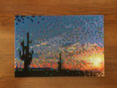 Phoenix sunrise perler bead creation by etselecaira