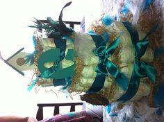 Bird themed diaper cake for baby shower. :)
